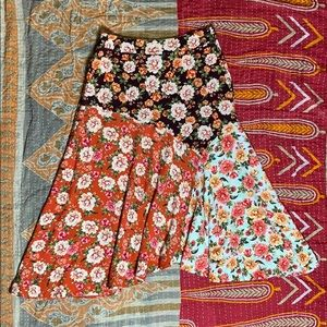 Farm for Anthropologie floral a skirt M
